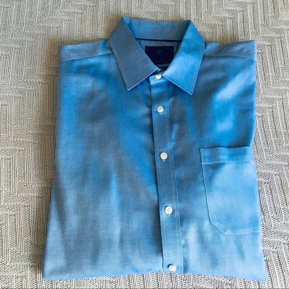 Marks & Spencer Other - Marks & Spencer solid blue button down, size 17